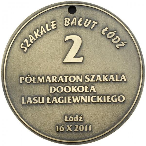 Medal Szakale Bałut Łódź zpółmaratonu szakala dookoła lasu Łagiewnickiego