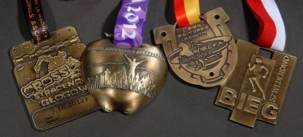 Medale zmaratonów wilości 4 sztuk