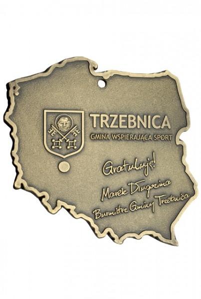 Medal zTrzebnicy zgrawerem Burmistrza