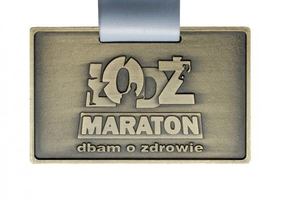 Medal zamaraton wŁodzi dbam ozdrowie