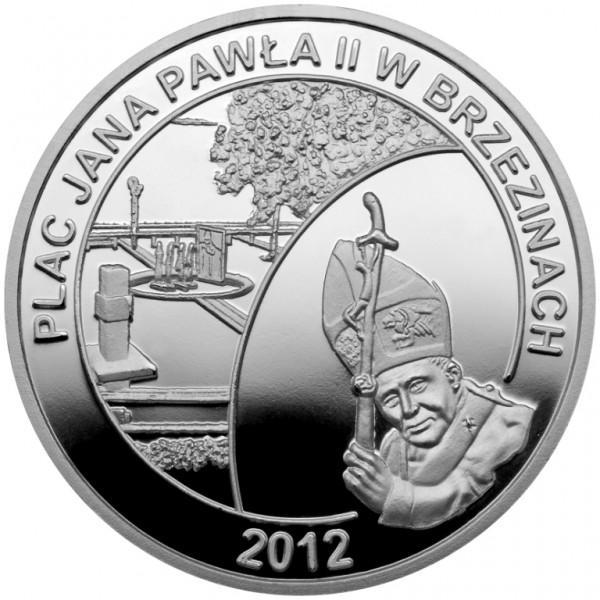 Medal Plac Jana Pawła II wBrzezinach