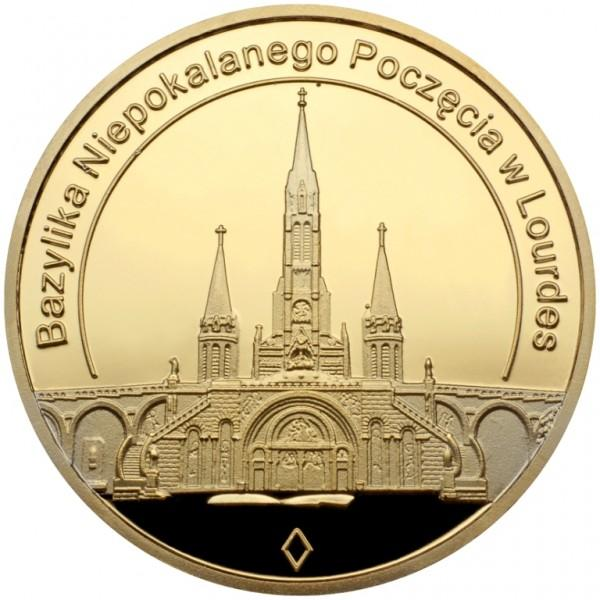 Medal Bazylika Niepokalanego Poczęcia wLourdes