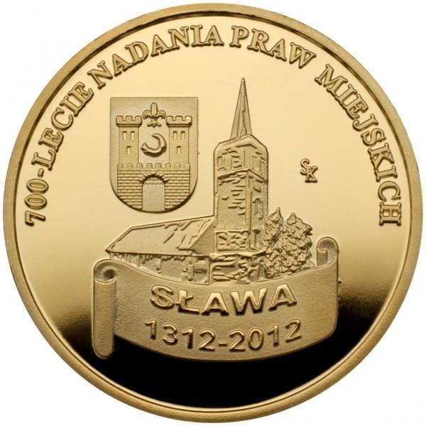 Medal 700 lecia nadania praw miejskich Sława 1312-2012