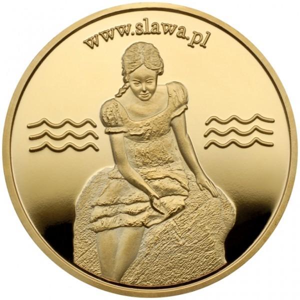 Medal zwygrawerowaną kobietą www.slawa.pl